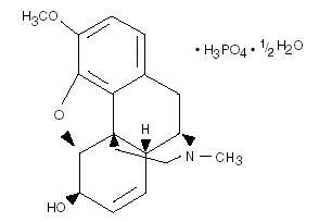 Codeine phosphate structure