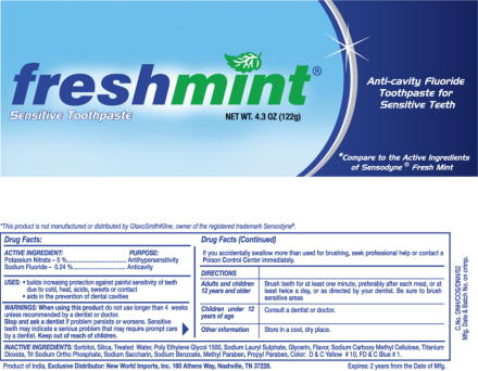 Freshmint Sensitive Toothpaste (Fluoride Toothpaste) Paste, Dentifrice [Dabur India Limited]