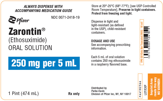 Zarontin (Ethosuximide) Solution [Parke-davis Div Of Pfizer Inc]