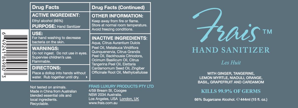 Frais Hand Sanitizer (Alcohol) Gel [Frais Luxury Products]
