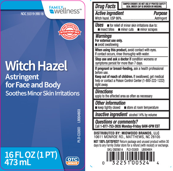 Witch Hazel Liquid [Family Dollar (Family Wellness)]