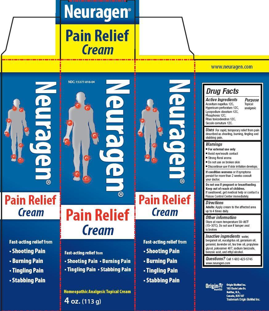 Neuragen Pain Relief (Aconitum Napellus, Hypericum Perforatum, Lycopodium Clavatum, Phosphorus, Rhus Toxicodendron, Secale Cornutum) Cream [Origin Biomed Inc.]