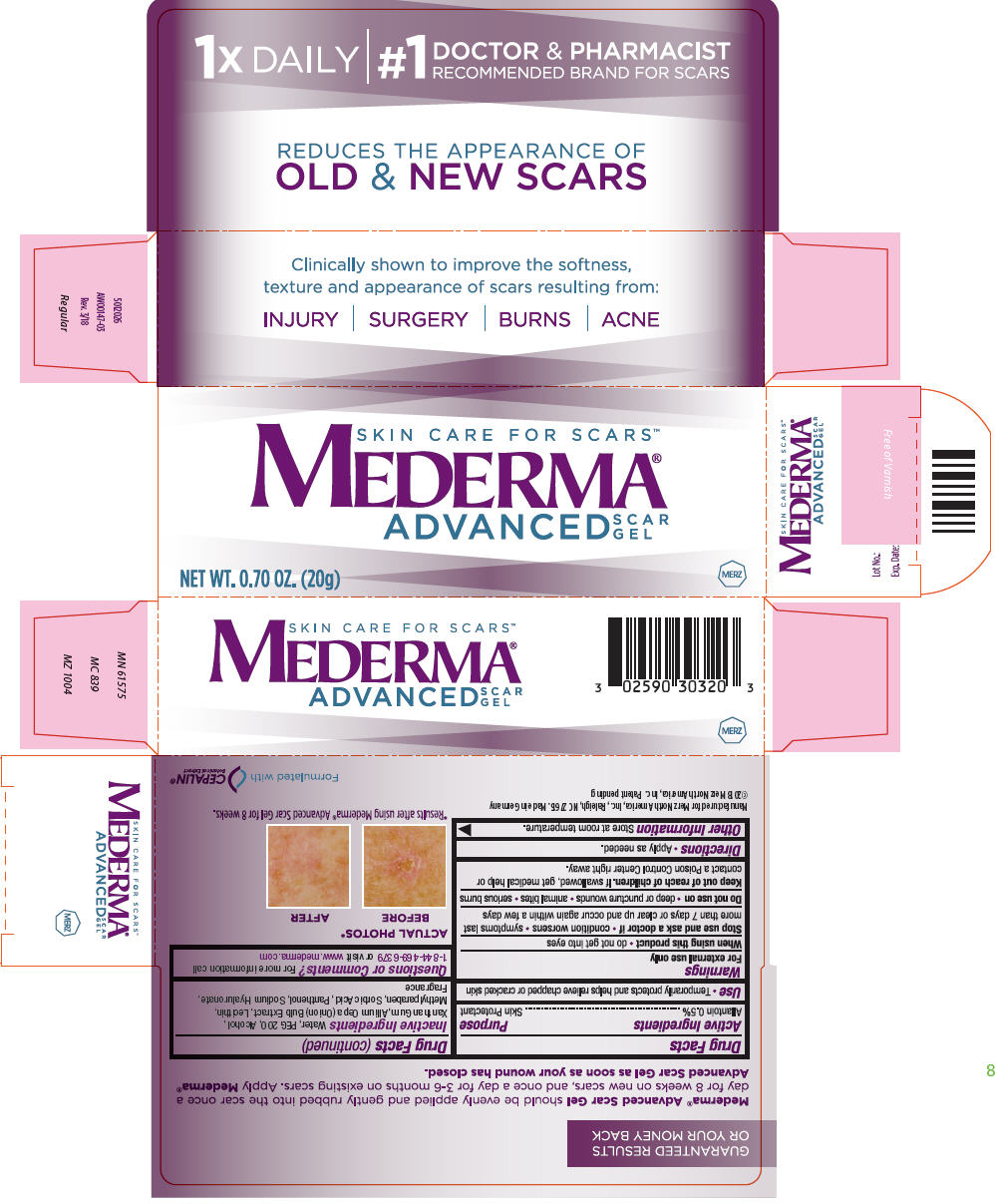 Mederma Advanced Scar (Allantoin) Gel [Merz Pharmaceuticals, Llc]