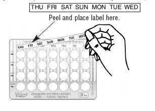 Pick correct day label.