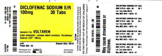 Diclofenac Sodium Tablet, Film Coated, Extended Release [Direct Rx]