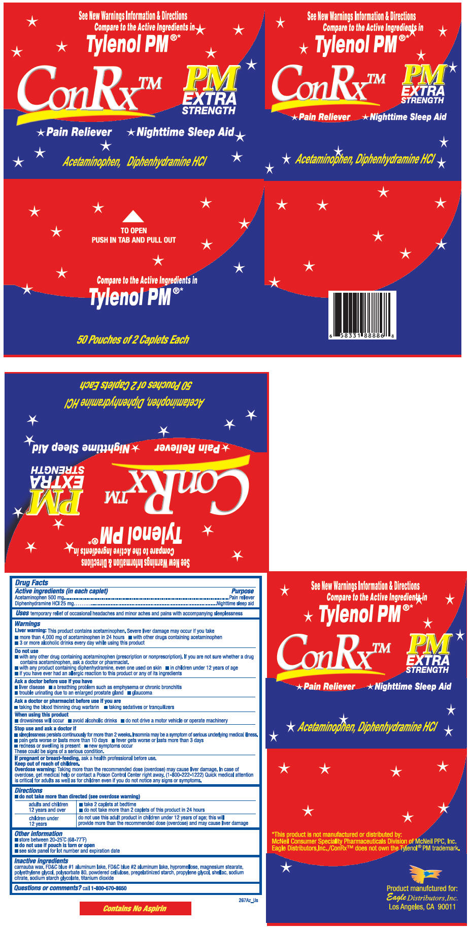 Conrx Pm (Acetaminophen And Diphenhydramine Hydrochloride) Tablet [Eagle Distributors,inc.]