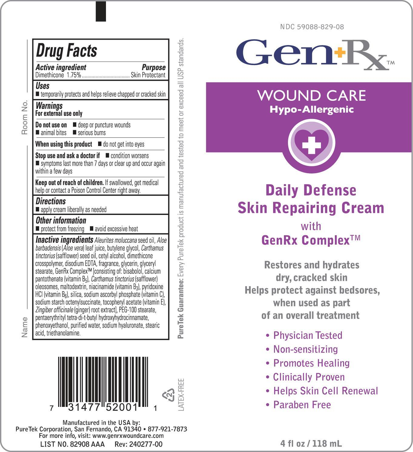 GenRx Daily Defense Skin Repairing Cream 4 oz image