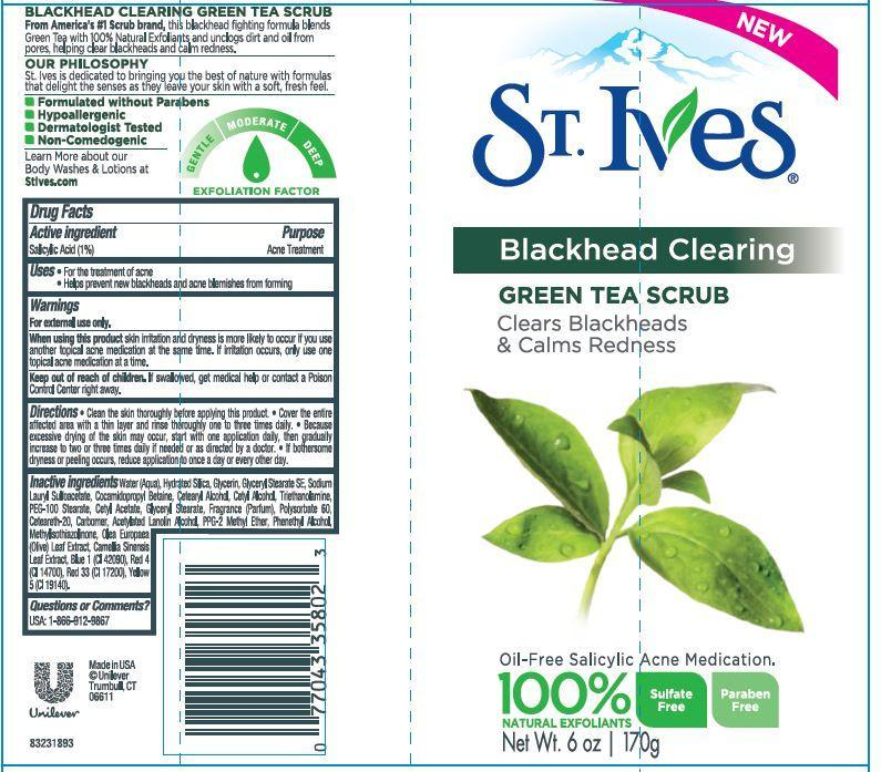 St. Ives Blackhead Clearing Green Tea Scrub (Salicylic Acid) Emulsion [Conopco Inc. D/b/a Unilever]