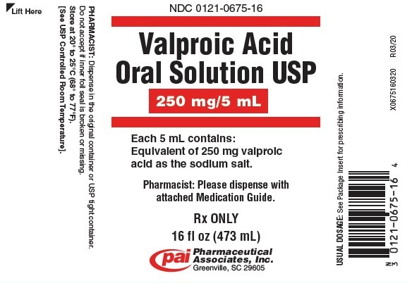 Valproic Acid Solution [Pharmaceutical Associates, Inc.]