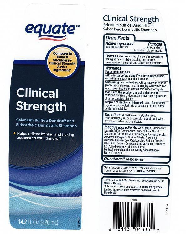 Equate Clinical Strength Dandruff (Selenium Sulfide) Liquid [Wal-mart Stores Inc]