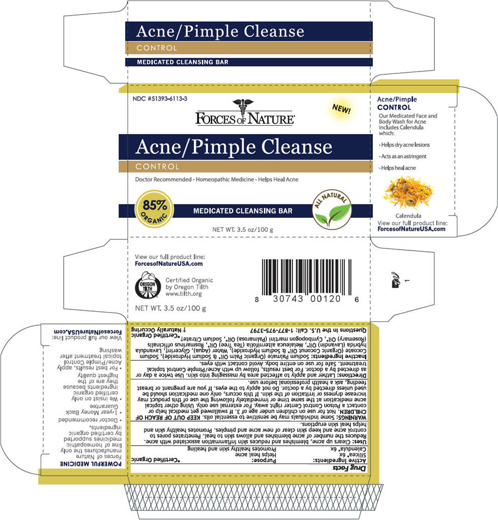 Acne/pimple Cleanse (Silicon Dioxide And Calendula Officinalis Flowering Top) Soap [Forces Of Nature]