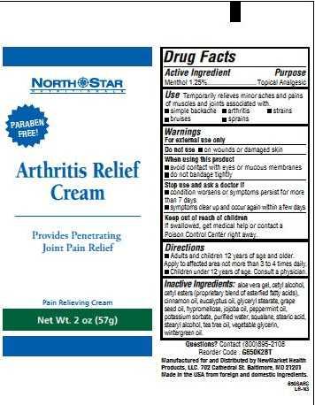 Arthritis Relief (Menthol) Cream [Newmarket Health Products Llc]