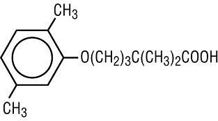 Structural formula for gemfibrozil