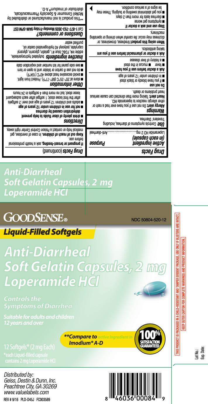 Anti-diarrheal (Loperamide Hydrochloride) Capsule, Liquid Filled [Geiss, Destin & Dunn, Inc (Goodsense)]