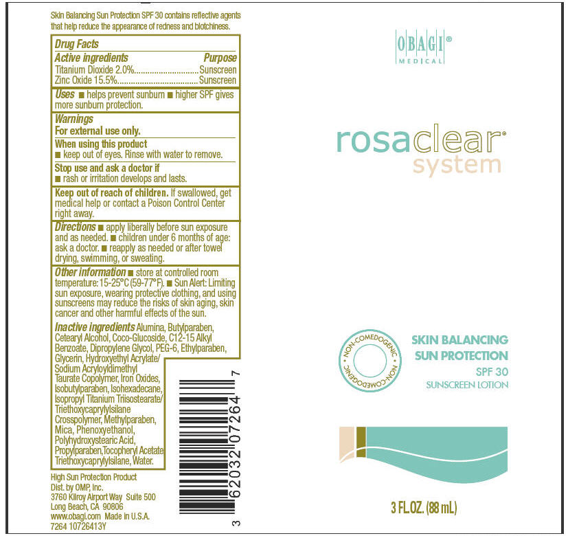 Rosaclear Skin Balancing Sun Protection Spf 30 Suncreen (Titanium Dioxide And Zinc Oxide) Lotion [Omp, Inc.]