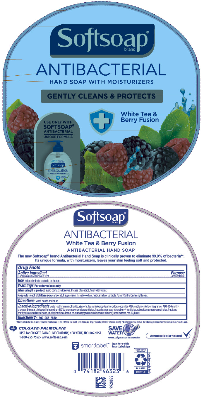 Softsoap Antibacterial With Moisturizers White Tea And Berry Fusion (Benzalkonium Chloride) Liquid [Colgate-palmolive Company]