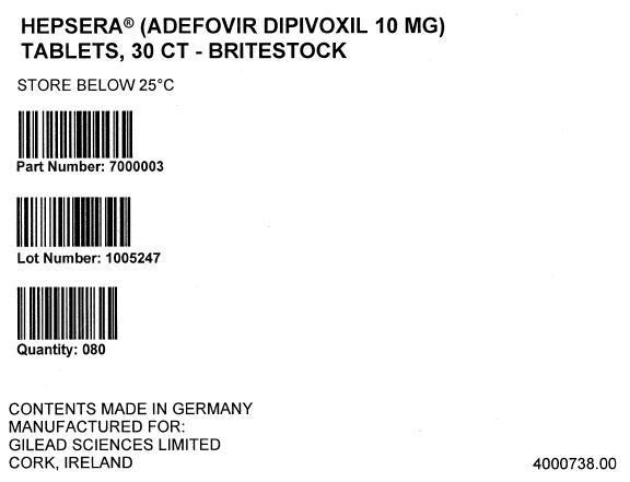 Hepsera (Adefovir Dipivoxil) Tablet [Excella Gmbh]