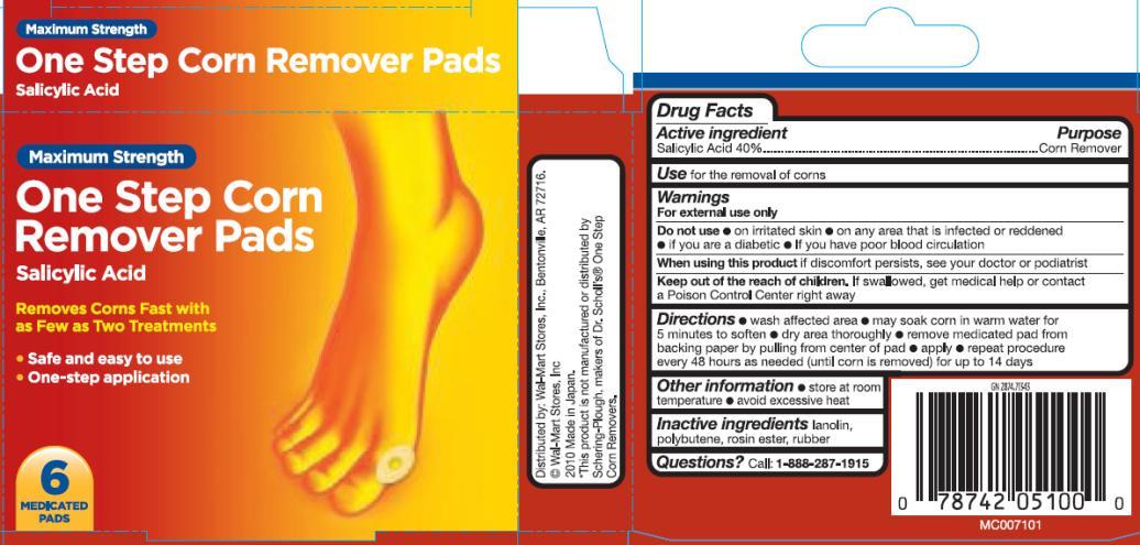 Equate One Step Corn Remover Pad (Salicylic Acid) Liquid [Wal-mart Stores Inc.]