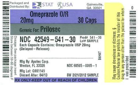 Omeprazole DR 20mg Label Image