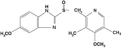 structural formula for omeprazole