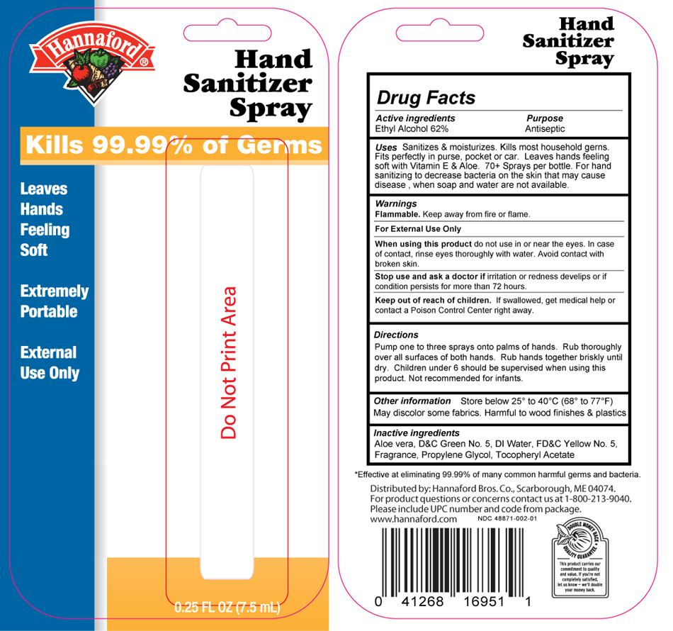 Hannaford blister card