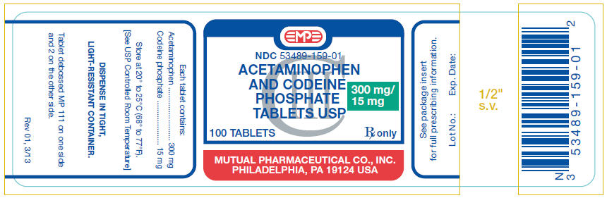 Acetaminophen And Codeine (Acetaminophen And Codeine Phosphate) Tablet [Mutual Pharmaceutical Company, Inc.]