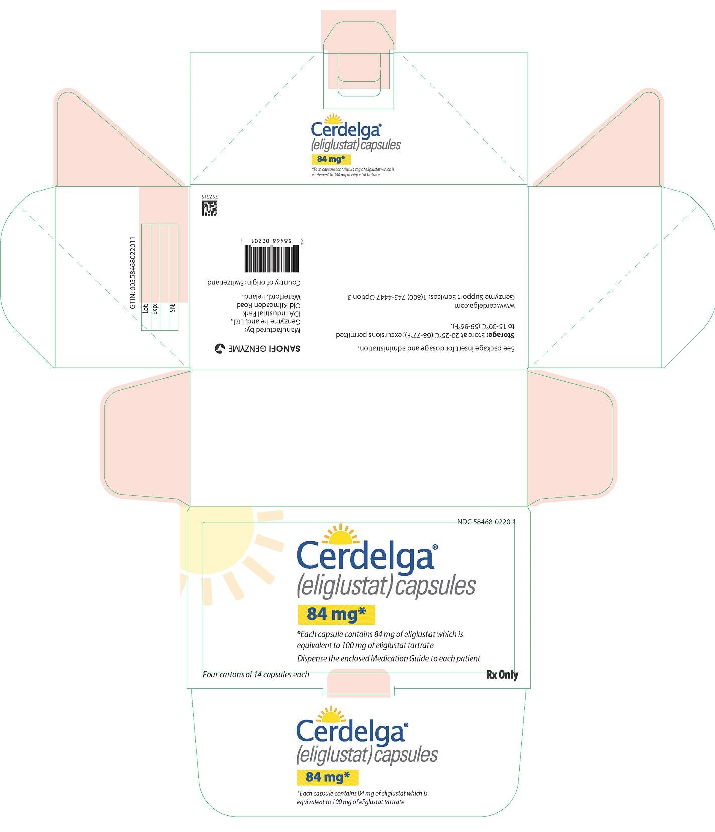 Cerdelga (Eliglustat) Capsule [Genzyme Corporation]