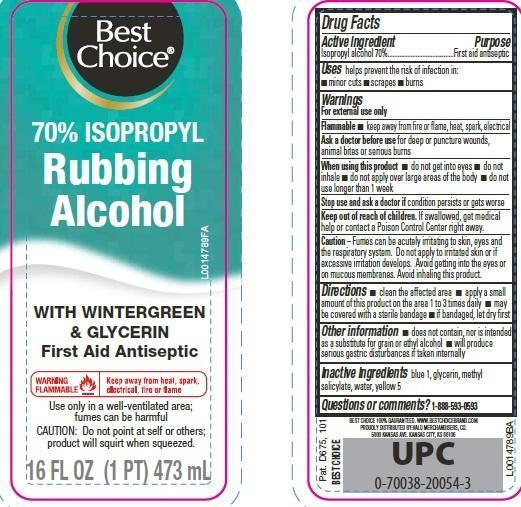 Isopropyl Alcohol Liquid [Valu Merchandisers, Co]