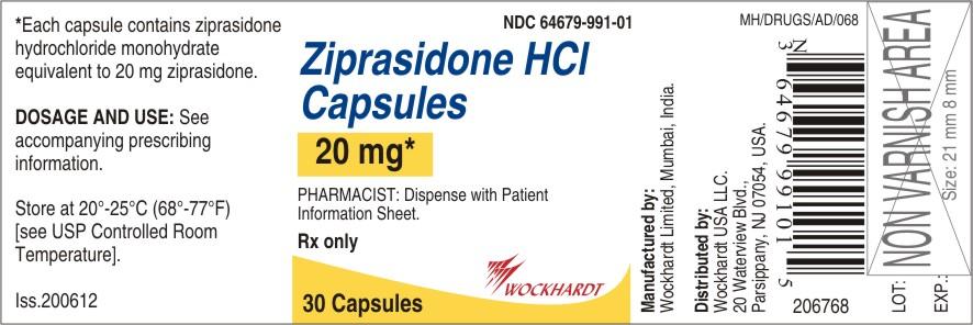 Ziprasidone Hydrochloride Capsule [Wockhardt Limited]