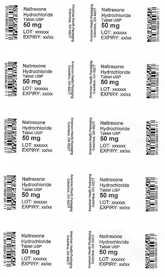 50 mg Naltrexone HCl Tablet Blister
