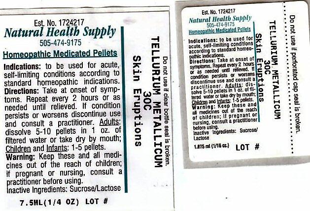 Skin Eruptions (Tellurium) Pellet [Natural Health Supply]