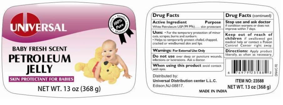 Universal Baby Fresh Scent Petroleum (White Petroleum) Jelly [Universal Distribution Center Llc]