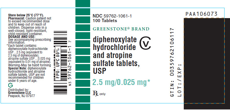 Diphenoxylate Hydrochloride And Atropine Sulfate Tablet [Greenstone Llc]