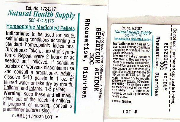 Rheumatism Diarrhea (Benzoic Acid) Pellet [Natural Health Supply]