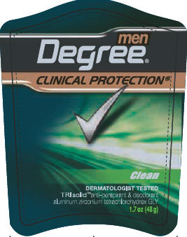 Degree Clinical Protection Clean 1.7 oz front PDP