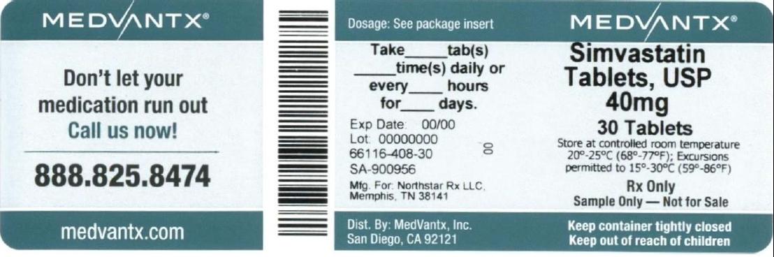 Simvastatin Tablet, Film Coated [Medvantx, Inc.]