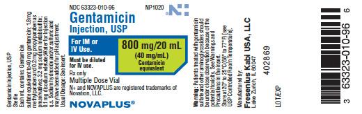 Gentamicin (Gentamicin Sulfate) Injection, Solution [Fresenius Kabi Usa, Llc]