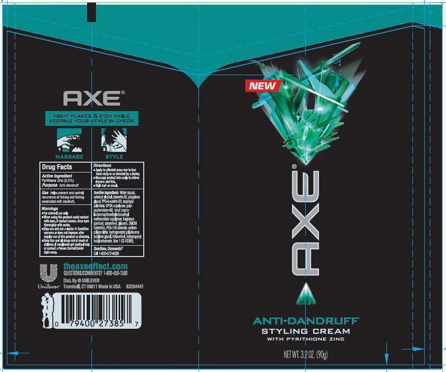 Axe Antidandruff Styling (Pyrithione Zinc) Cream [Conopco Inc. D/b/a Unilever]