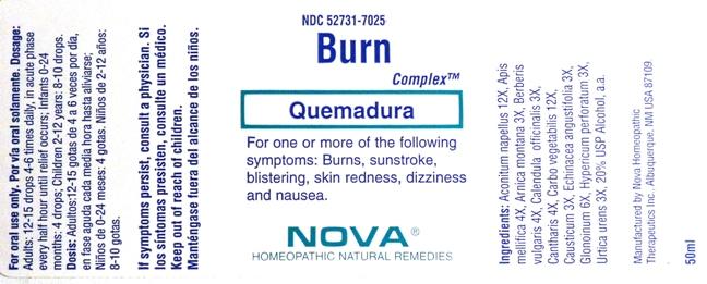 Burn Complex (Aconitum Napellus 12x, Apis Mellifica 4x, Arnica Montana 3x, Berberis Vulgaris 4x, Calendula Officinalis 3x, Cantharis 4x, Carbo Vegetabilis 12x, Causticum 3x, Echinacea Angustifolia 3x,glonoinum 6x, Hypericum Perforatum 3x, Urtica Urens 3x) Liquid [Nova Homeopathic Therapeutics, Inc.]