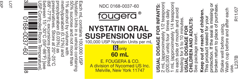 Nystatin Suspension [E. Fougera & Co. A Division Of Fougera Pharmaceuticals Inc.]