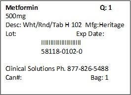 Metformin Hydrochloride Tablet [Clinical Solutions Wholesale]