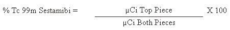 % Tc99m Calculation Formula