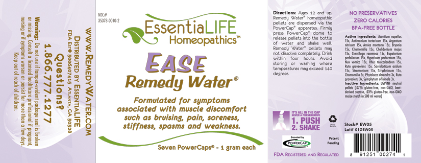 Ease Water Label