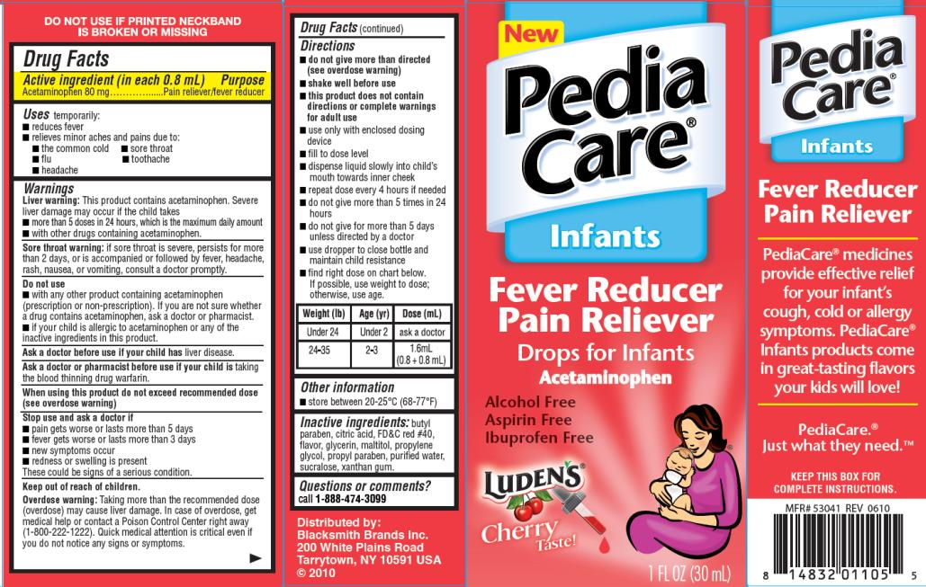 PRINCIPAL DISPLAY PANEL PediaCare Infants Fever Reducer  Cherry Flavor