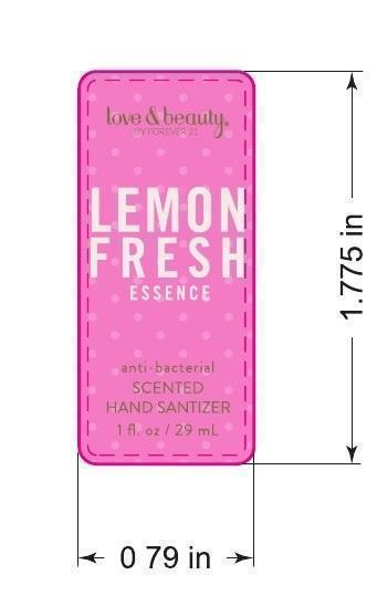 Love And Beauty Lemon Fresh Essence Antibacterial Scented Hand Sanitizer (Ethyl Alcohol) Gel [Forever 21]