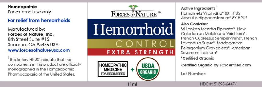 Hemorrhoid Control (Hamamelis Virginiana Root Bark/stem Bark And Horse Chestnut) Solution/ Drops [Forces Of Nature]