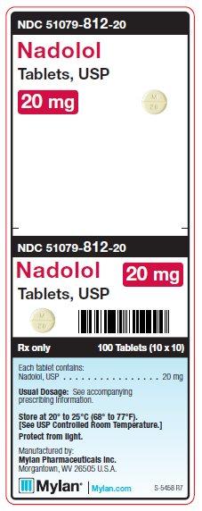 Nadaolo 20 mg Tablets Unit Carton Label