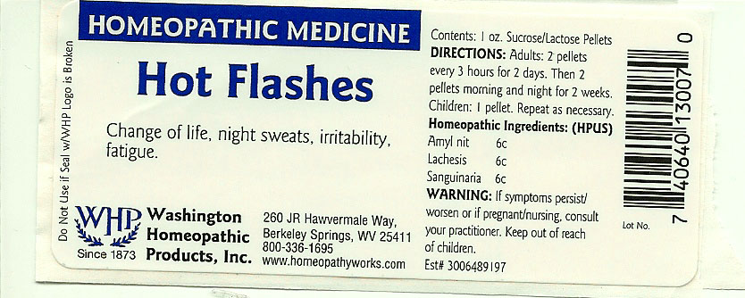 Hot Flashes (Amyl Nitrite – Lachesis Muta Venom – Sanguinaria Canadensis Root) Pellet [Washington Homeopathic Products]