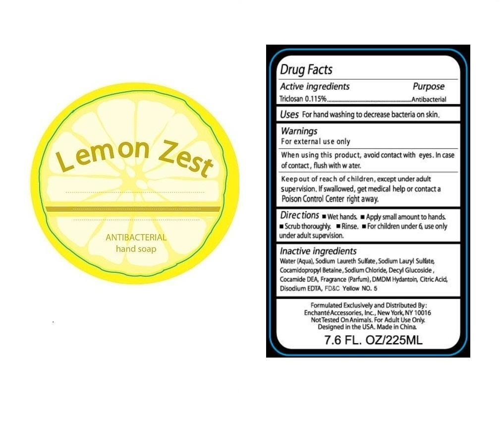 Lemon Zest Antibacterial Hand (Triclosan) Soap [Zhejiang Blue Dream Cosmetics Co., Ltd.]