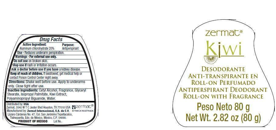 Zermat Kiwi With Fragrance (Aluminum Chlorohydrate) Liquid [Zermat Internacional]